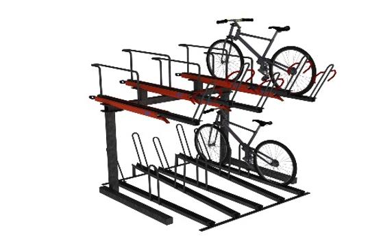 Odoni-Elwell UK Manufactured two-tiered Cycle Rack. Bike Rack