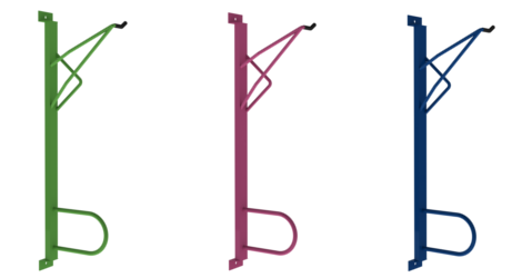 Compact Wall Hanger (Plain Galvanised)