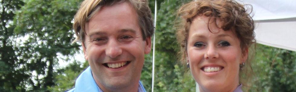 Peter van Geest en Ivonne Bom.