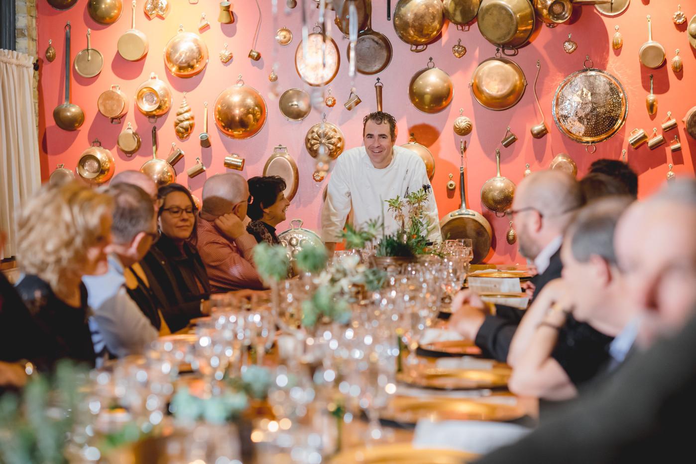 Chef David Speaking to the Menu