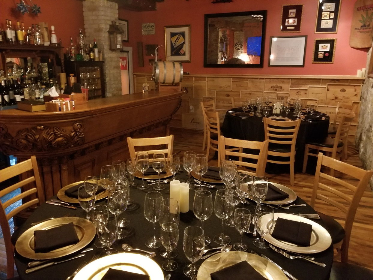 Seated Dinner in the Speakeasy