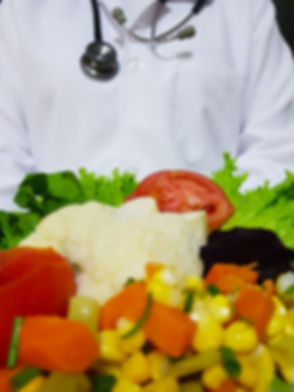 Health Professional Holding Healthy Food