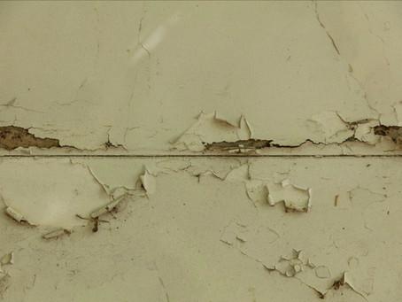 O prazer de descascar mais e o muro da casa da minha avó
