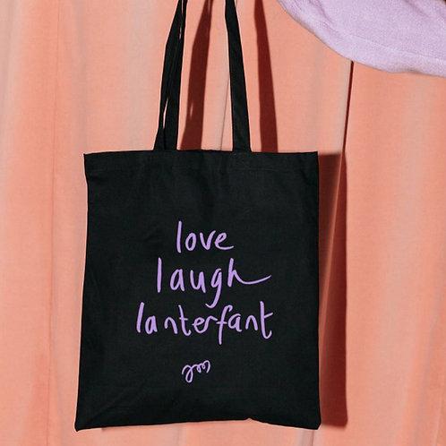 TASJE 'LOVE LAUGH LANTERFANT'