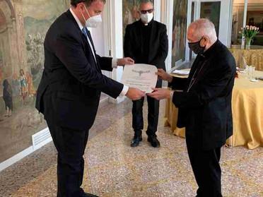 28.11.2020 – Cardinale Silvano Maria Tomasi Balì Gran Croce di Giustizia dell'Ordine Costantiniano