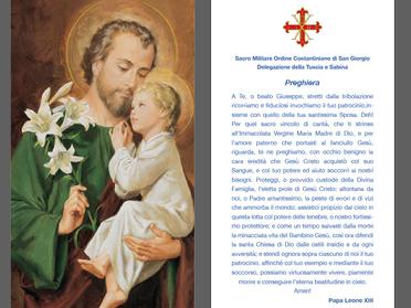 19.03.2021 – Festa di San Giuseppe. Servizio d'ordine e d'onore dei Cavalieri della Tuscia e Sabina