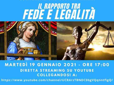 27.01.2021 - Rapporto tra Fede e Legalità. Conversazione Costantiniana con il Dott. Raffaele Cantone