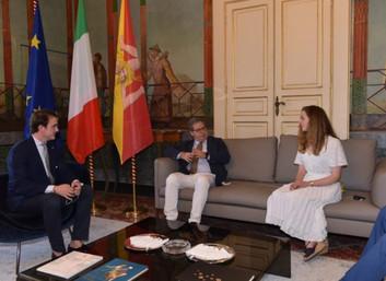 14.07.2020 - Jaime di Borbone delle Due Sicilie e Charlotte Diana Lindesay-Bethune a Palermo