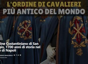 31.07.2020 - Reportage sull'Ordine Costantiniano e intervista alla Delegazione di Napoli e Campania