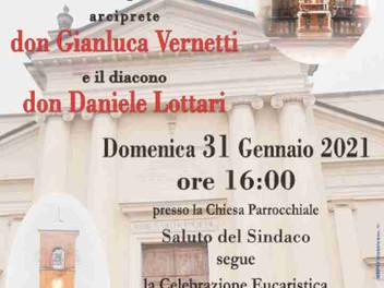 31.01.2021 – Solenne Ingresso nella Comunità di Stradella dell'Arciprete Don Gianluca Vernetti