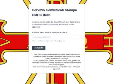 25.11.2020 - Contatti per i media e modulo di iscrizione al servizio Comunicati Stampa