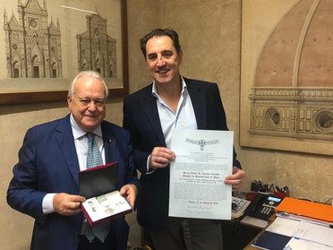 01.10.2019 - Medaglia d'argento di Benemerenza al Dott. Lorenzo Luchetti