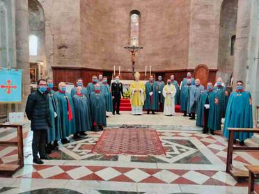 23.04.2021 – Il Vescovo di Viterbo celebra la memoria di San Giorgio con i Cavalieri Costantiniani