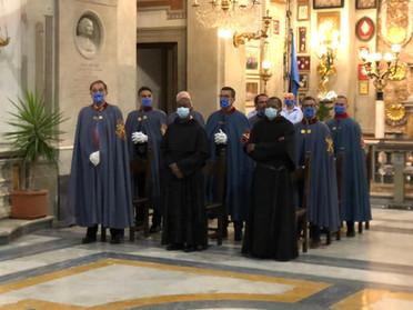 27.09.2020 - Cavalieri Costantiniani presenziano in Viterbo ai Voti Solenni di Professi Agostiniani