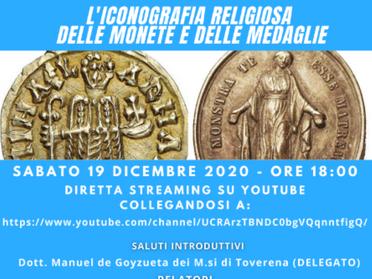 19.12.2020 - L'iconografia religiosa delle monete e delle medaglie