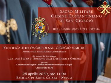 25.04.2020 - Pontificale 2020 in onore di San Giorgio Martire
