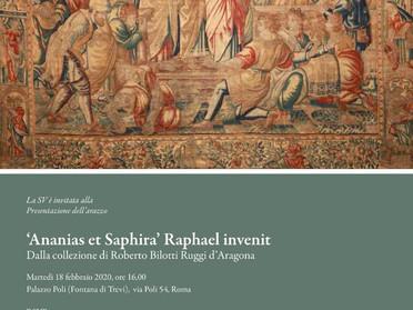 """18.02.2020 - Presentazione della mostra """"'Ananias et Saphira' Raphael invenit"""" a Roma"""
