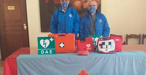 30.07.2020 - Installazione primo soccorso e donazione defibrillatore a S.M. della Quercia a Viterbo