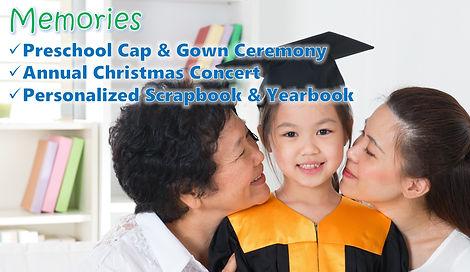 Child in grad gown
