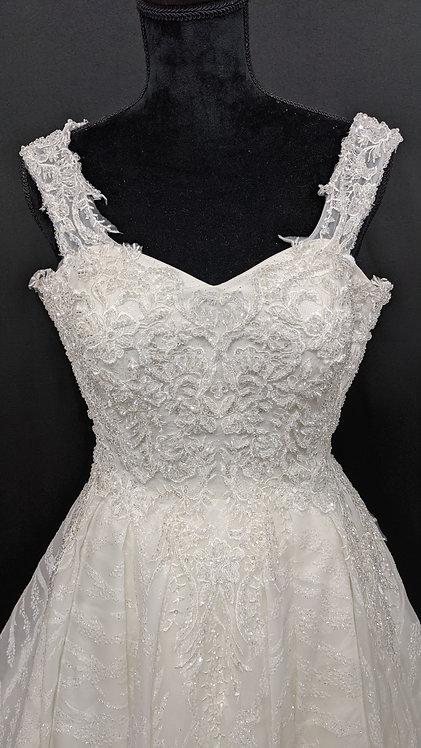 21820 A-Line Hand Beaded Wedding Dress Ivory