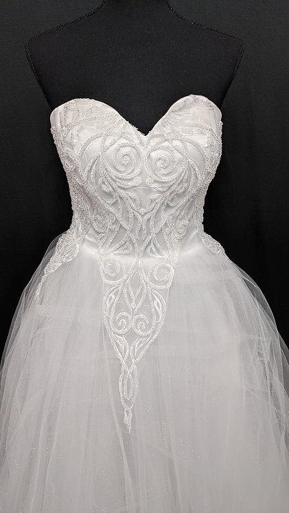 21575 A-Line Hand Beaded Wedding Dress Ivory