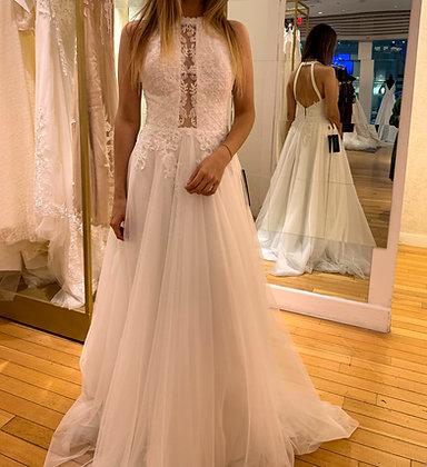 209208 A-Line Hand Beaded  Wedding Dress