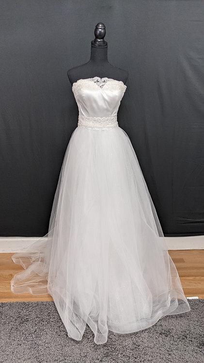 21536 A-Line Hand Beaded Wedding Dress