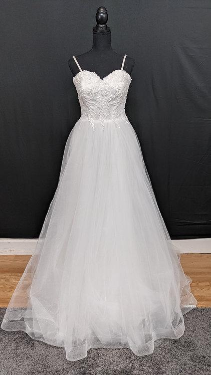 21574 A-Line Hand Beaded Wedding Dress Ivory