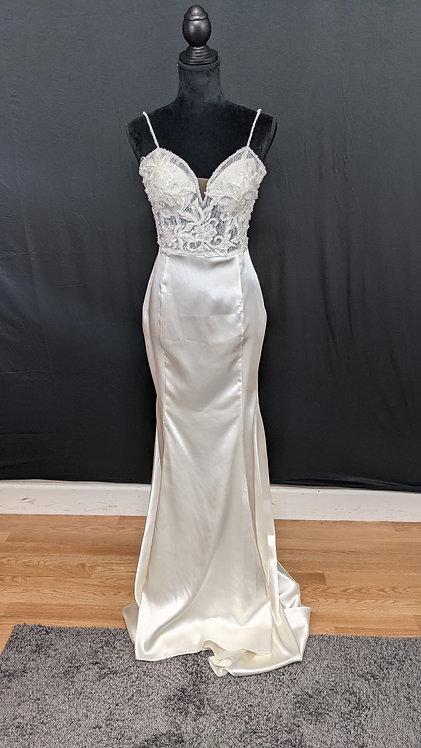 21567 Trumpet Hand Beaded Wedding Dress