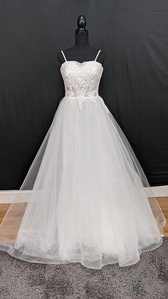21509 A-Line Hand Beaded Wedding Dress