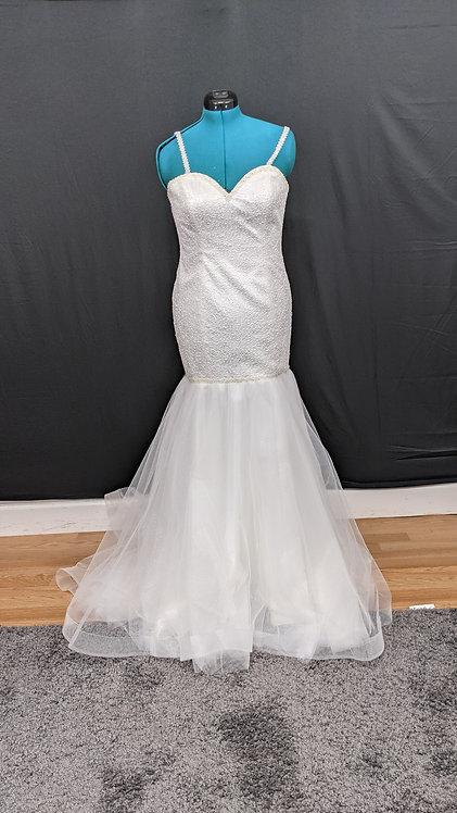 21022 Mermaid Hand Beaded  Wedding Dress