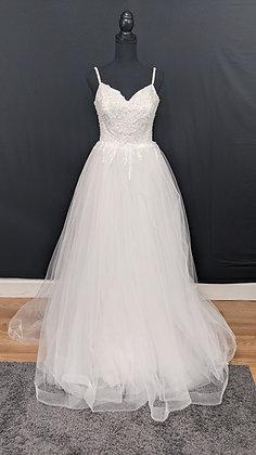 21606 A-Line Hand Beaded Wedding Dress