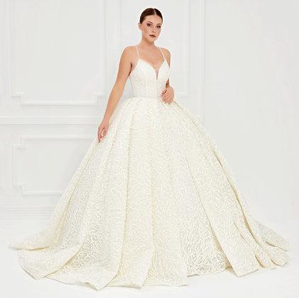 P21000 A-Line Hand Beaded  Wedding Dress