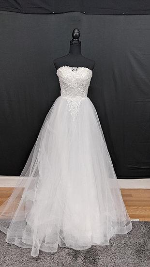 21529 A-Line Hand Beaded Wedding Dress