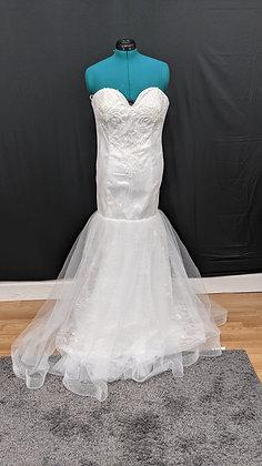 21572 Mermaid Hand Beaded Plus Size Wedding Dress