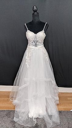 209233 A-Line Hand Beaded  Wedding Dress