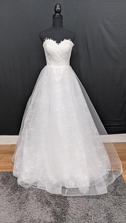 21514 A-Line Hand Beaded Wedding Dress