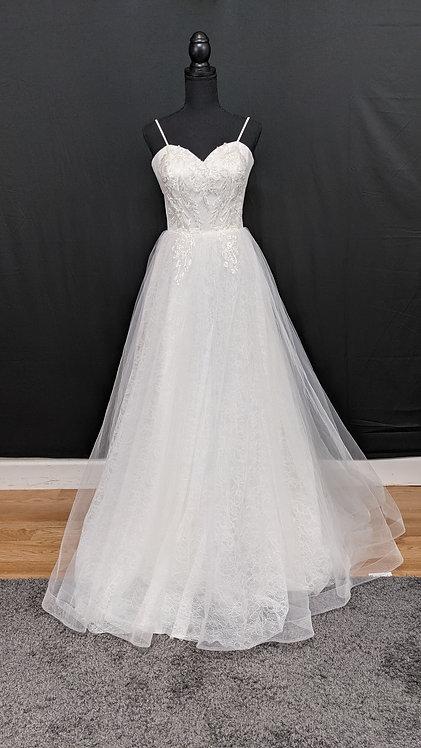 2107081 A-Line Hand Beaded Wedding Dress