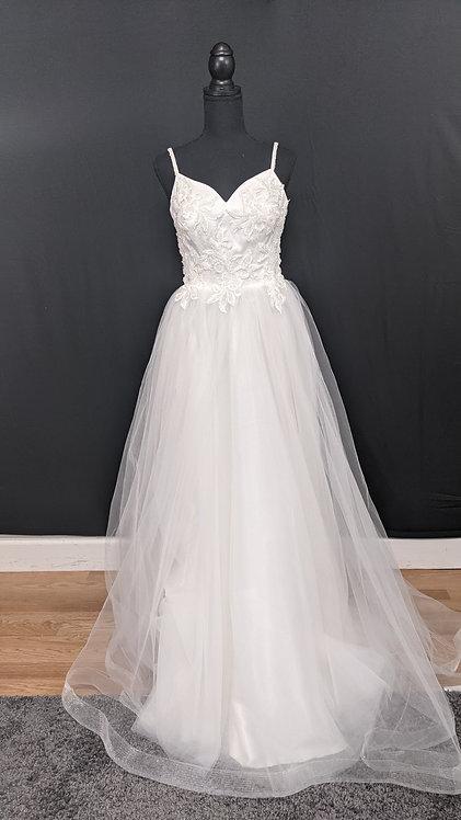21602 A-Line Hand Beaded Wedding Dress