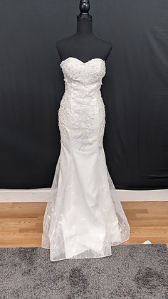 2016557 Mermaid Hand Beaded  Wedding Dress Ivory