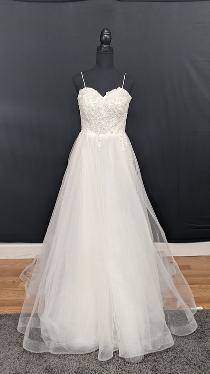 21082 A-Line Hand Beaded  Wedding Dress