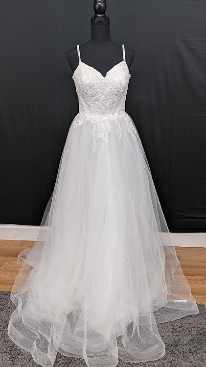21601 A-Line Hand Beaded Wedding Dress