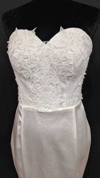 215200 Trumpet Hand Beaded Wedding Dress