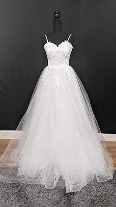 21570 A-Line Hand Beaded Wedding Dress Ivory