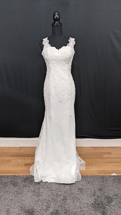 2016023 Mermaid Hand Beaded  Wedding Dress Ivory