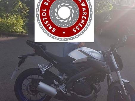 STOLEN - YAMAHA MT125 - WV65 EKY - SILVER - CRIME REF: 5219110986