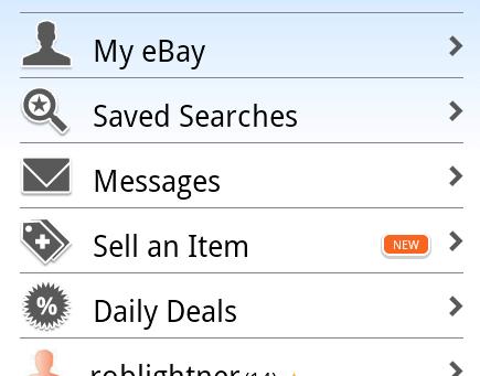 Ebay App Glitch