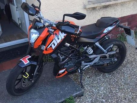 RECOVERED - KTM DUKE 125 - WR16 YFS - Orange - Crime Ref: 5218269762
