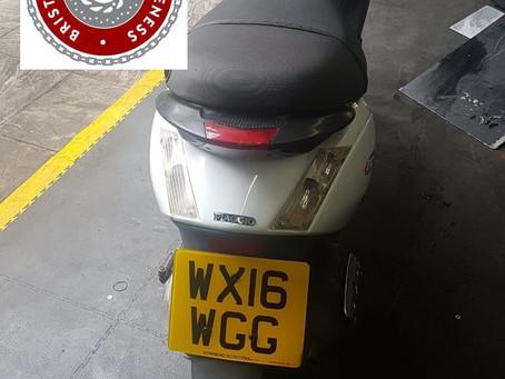 STOLEN - PIAGGIO ZIP - WX16 WGG - WHITE - CRIME REF: 5219200631