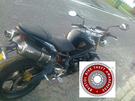 STOLEN - TRIUMPH STREET TRIPLE - A009 YXW - CRIME REF:5219142905